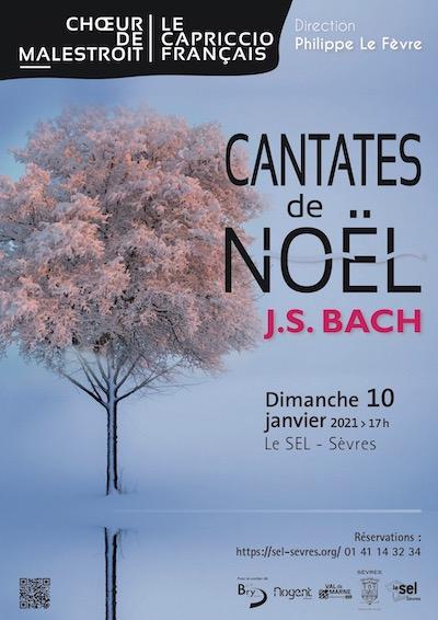 Affiche du concert Cantates de Bach du Capriccio Français et du Choeur de Malestroit